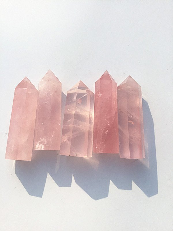 rose crystal terminated points (1)