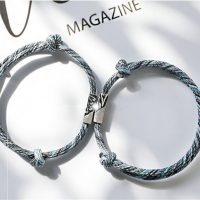 rope bracelet engraving magnetic for couples (4)