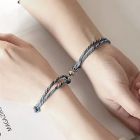 rope bracelet engraving magnetic for couples (5)